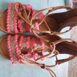 Baby Gap pom pom sandals